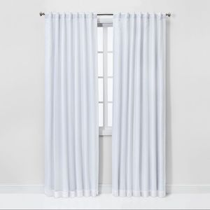 Voile Overlay Blackout Curtain Panel - Threshold